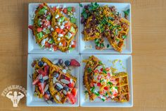 3-Ingredient Sweet Potato Waffle with Healthy & Creative Toppings | Fit Men Cook