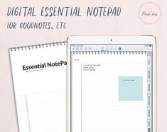 Digital NotePad, Planner Notepad, Digital To do Notepad, Digital Notebook Index Page, Notebook Organization, Digital Journal, Note Taking, Studyblr, Yellow Paper, White Paper, Work From Home Moms, Gadgets