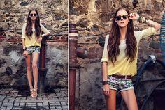 She Inside Top, Zara Shorts