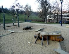 ...wonder who thought big, scary insects in a playground was a good idea?