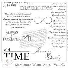 Memories Word Arts Vol 03 by D's Design  #CUdigitals cudigitals.com cu commercial digital scrap #digiscrap scrapbook graphics