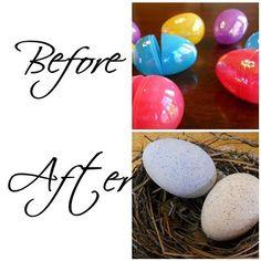 Upgraded plastic eggs