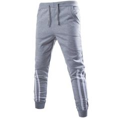 12.92$  Watch here - http://die49.justgood.pw/go.php?t=199717504 - Stripe Spliced Beam Feet Jogger Pants 12.92$