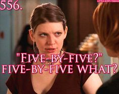 "Buffy lived before Google. ""Five by five"" means a signal that has excellent strength and perfect clarity — the most understandable signal possible."