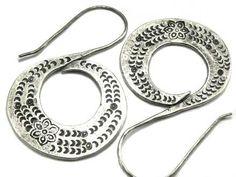 Thai Karen silver Big Tribal swirl earrings by KarenCottage, $42.39