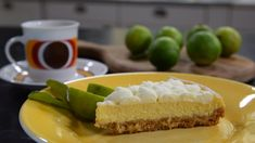 Klassikern i ny tappning! Key Lime Pie Recept, Dessert Recipes, Desserts, Love Food, Cheesecake, Frozen, Sweets, Cakes, Tailgate Desserts