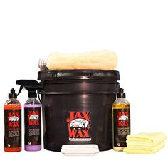 Contains Everything You Need in One Place to Wash, Wax and Maintain Your Vehicle in Showroom Fresh Condition - All included in a Commercial Re-Sealable 3 1/2 Gallon Wash Bucket so You Can Organize and