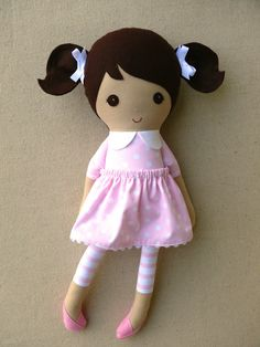 Reserved listing for Jane:    (please only purchase if you are Jane)    This is a handmade cloth doll measuring 20 inches. She is wearing a sweet,