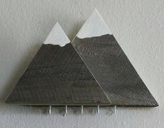 Raspberry Thread - Mountains. Check out this item in my Etsy shop https://www.etsy.com/listing/523500545/mountain-key-and-mail-holder