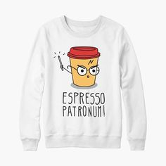 Pull sweat Harry Potter Espresso Patronum cadeau anniversaire