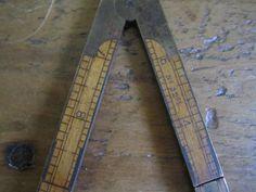 Vintage Folding Ruler 32 1/2 Boxwood Carpenter Rules by hyperboleVINTAGE on Etsy