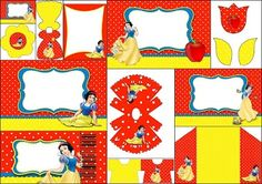 Snow White: Free Printable Invitations, Labels or Cards.