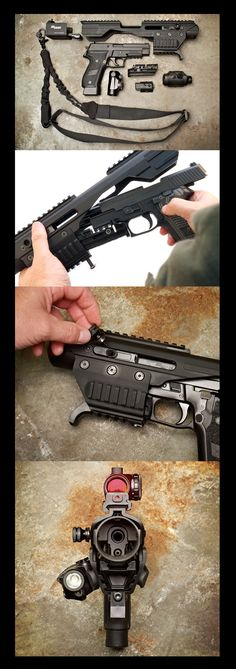 SIG ACP, modern personal defense weapons. Small light accurate and quick on target. Mp7 are impossible to buy in amerIca, this replicates the ability of the mp7.....do this to a fn5.7 and it is basically a mp7