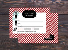 Holiday chevron gift  certificate  Instant download by Deidamiah, $7.99