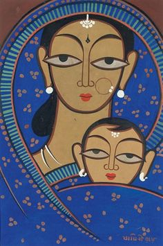 Jamini Roy - Untitled (Mother and Child)