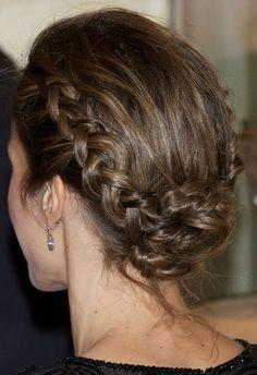 Penteados com tranças - Rainha Letizia da Espanha