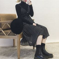 modest dresses winter best outfits – Page 60 of 120 – cute dresses outfits Korean Fashion Dress, Korean Fashion Summer, Korean Fashion Casual, Korean Outfits, Asian Fashion, Modest Fashion, Look Fashion, Daily Fashion, Trendy Fashion