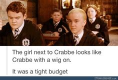 Harry Potter had a tight budget - Funny tumblr post