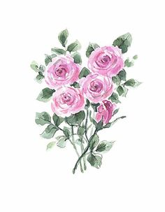 Orignal watercolor greeting card. Can be by FranciscanGraphics