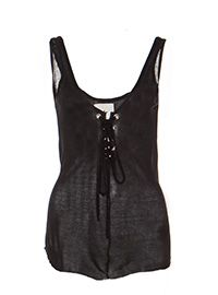 Model Off Duty at Revolve Clothing..Cute Layering top