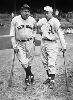 Babe Ruth and Jimmie Foxx : Classic photos of Babe Ruth
