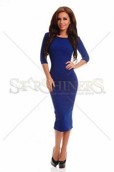 Contagious Notes Blue Dress