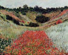 Claude Monet - Poppy Field in a Hollow near Giverny, 1885