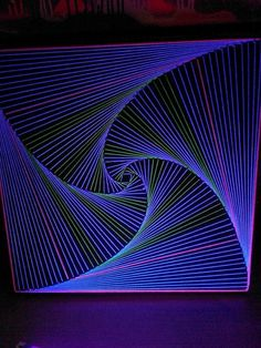 fluo string art by 50x50cm by Iq-0 by iQ0psy on Etsy