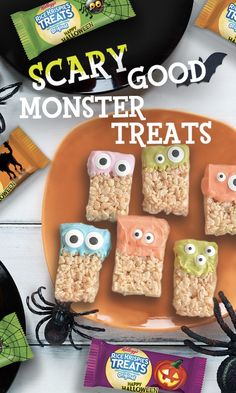 Promoted: Rice Krispies Treats get a monster makeover with bright frosting and candy eyes.
