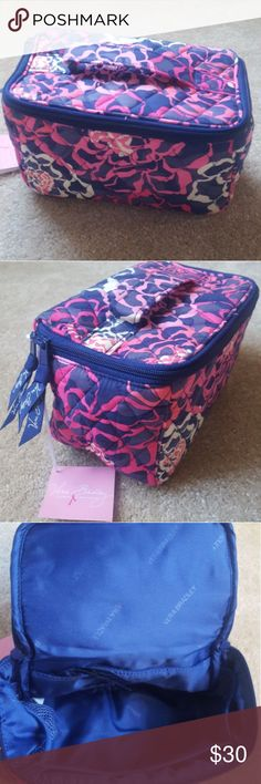 Vera Bradley Travel Cosmetic Bag! NWT!! Vera Bradley Travel Cosmetic Katalina Pink bag. New with tags! Zips with a handle on top. Multiple little compartments and a zippered compartment inside! Vera Bradley Bags Cosmetic Bags & Cases