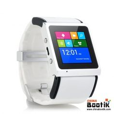 """Android Smart Watch """"V Strike"""" - 1.54 Inch Screen, Dual Core CPU, Bluetooth 4.0, Wi-Fi, GPS (White) and Windows 8 UI? #smartwatch #androidwatch"""