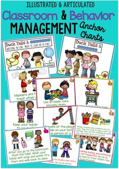 A MUST HAVE!! Illustrated and articulated behavior and classroom management anchor charts/slideshow! Super kid friendly - game changer!!