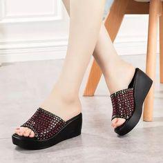 058dfdbb GKTINOO sandalias de las mujeres cuñas zapatos de tacón alto zapatos de verano  zapatos de mujer