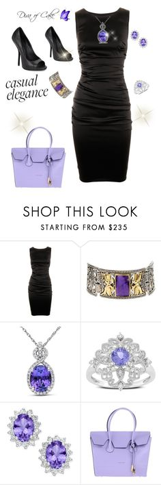 """Sexy outfit  black and purple"" by Diva of Cake on  Polyvore featuring Dolce&Gabbana, Konstantino, Miadora, Ice, Coccinelle and Giuseppe Zanotti"