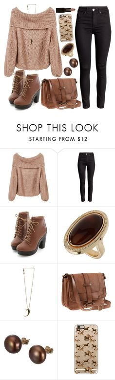"""Untitled #4210"" by natalyasidunova ❤ liked on Polyvore featuring Miss Dora, Wallis, Pamela Love, H&M, A B Davis, Casetify and Laura Mercier"