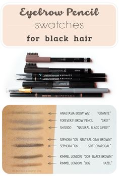 Eyebrow pencil shades that naturally match jet black hair