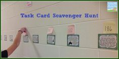 Two New Ideas for Using Task Cards!  Scavenger Hunt!
