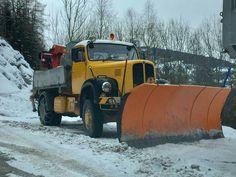 Snow Plow, Trucks, Bus, Austria, Transportation, Germany, Europe, Vehicles, Vintage