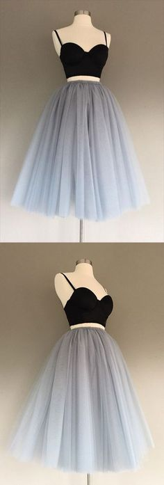 Grey Tulle Charming A-Line Two-Piece Short Homecoming Dress File original The post Grey Tulle Charming A-Line Two-Piece Short Homecoming Dress appeared first on Kleider Sommer. Prom Girl Dresses, Cheap Homecoming Dresses, Cheap Evening Dresses, Prom Party Dresses, Dance Dresses, Cheap Dresses, Dress Party, Prom Gowns, Dresses For Girls