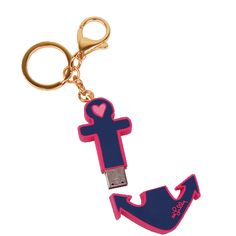 Lilly Pulitzer anchor-shaped flash drive keychain by Lifeguard Press
