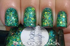Lynnderella Six Geese Laughing over Picture Polish Kryptonite