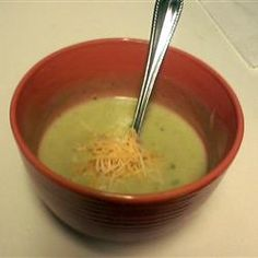 Potato, Broccoli and Cheese Soup Allrecipes.com..... You have to make this it is awesome!!   I made it and the four of us ate the whole pot!!!