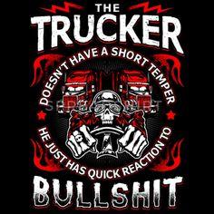 Funny T-Shirts - Quick Reaction to Bullshit - Trucker - EN - Kids' Organic T-Shirt black Trucker Quotes, Biker Quotes, Driving Humor, Truck Living, Truck Signs, Truck Art, Peterbilt Trucks, Big Rig Trucks, Piglets