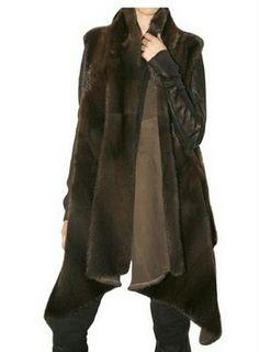 Rick Owens does the always classic mink vest fur coat.