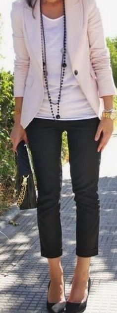 Love the jacket, tee and necklace. | My Style | Pinterest | Stylists, Stitches and Blazers