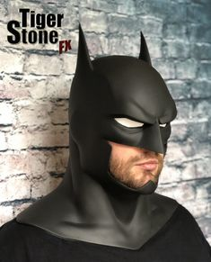 """A very cool fan made Batman animated movie Justice League War / Dark, Batman Bad Blood etc inspired cowl for your cosplay. • Cast in black urethane rubber • The cowl should fit up to a 23.5"""" head."""