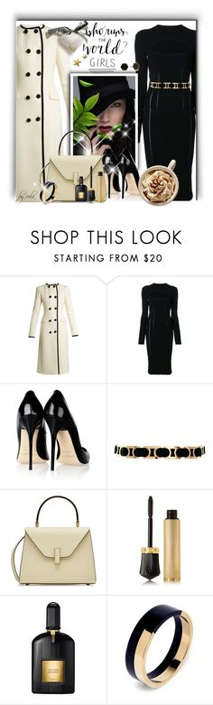 """GIRL POWER: Power Look"" by eula-eldridge-tolliver ❤ liked on Polyvore featuring Altuzarra, McQ by Alexander McQueen, Jimmy Choo, ASOS, Gorjana, Valextra, Christian Louboutin, Tom Ford and Marni"