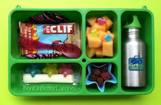 Star Go Green Lunch Box with reusable ice cubes to keep the lunch cool until ready to eat