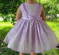"Doll Clothes-Handmade-American Girl Dolls-Fits 18""-Old Fashion Lilac Eyelet. #Handmade"