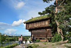 Skansen is basically a living village animated by real life people reenacting the traditional household tasks, crafts and work in the Swedish villages.